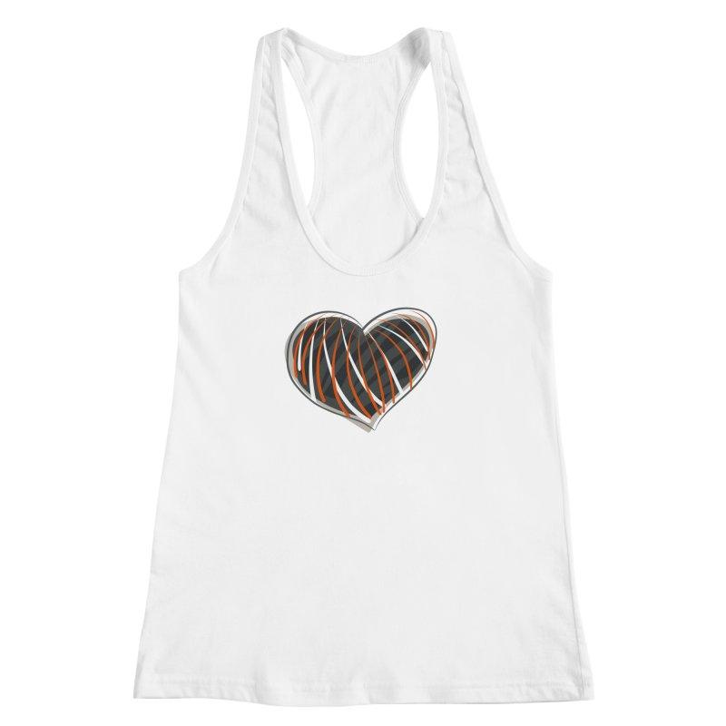 Striped Heart Women's Racerback Tank by Michael Pfleghaar
