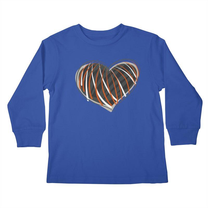 Striped Heart Kids Longsleeve T-Shirt by Michael Pfleghaar