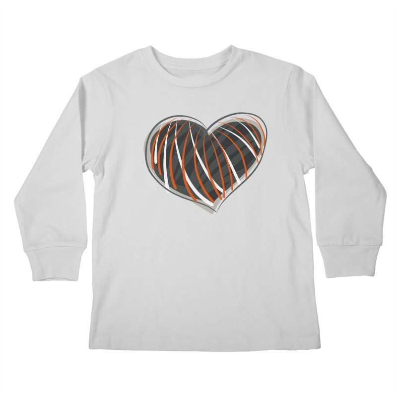 Striped Heart Kids Longsleeve T-Shirt by Michael Pfleghaar