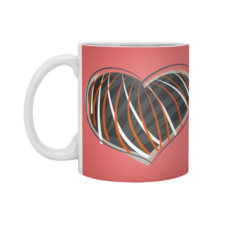 Striped Heart Accessories Mug by Michael Pfleghaar