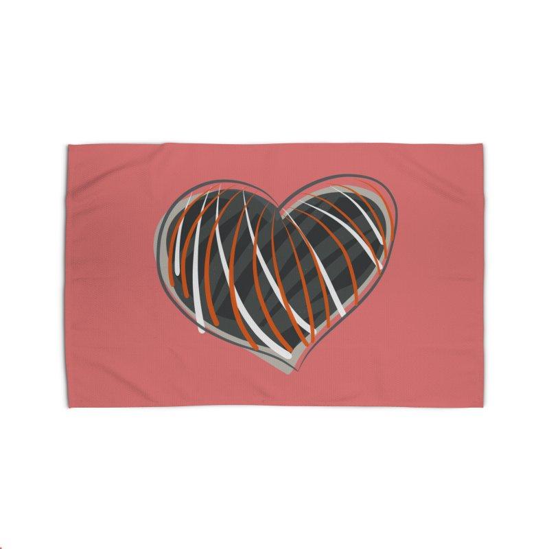 Striped Heart Home Rug by Michael Pfleghaar