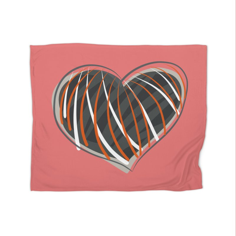 Striped Heart Home Blanket by Michael Pfleghaar