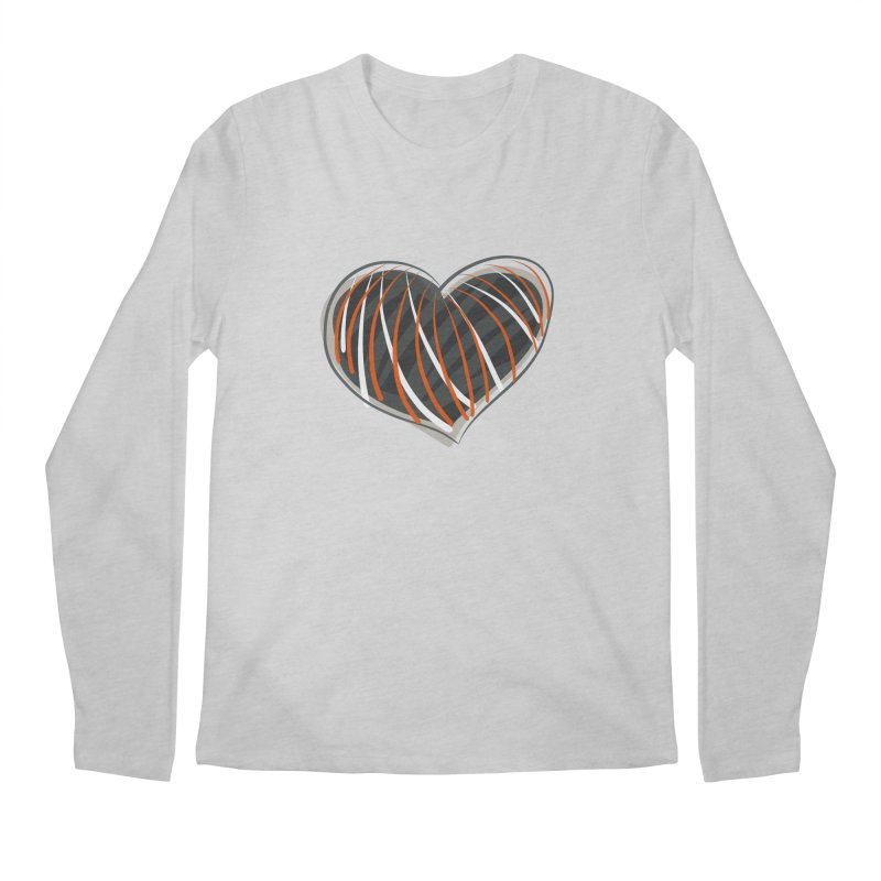 Striped Heart Men's Regular Longsleeve T-Shirt by Michael Pfleghaar