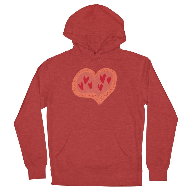 Heart of Hearts Women's French Terry Pullover Hoody by Michael Pfleghaar