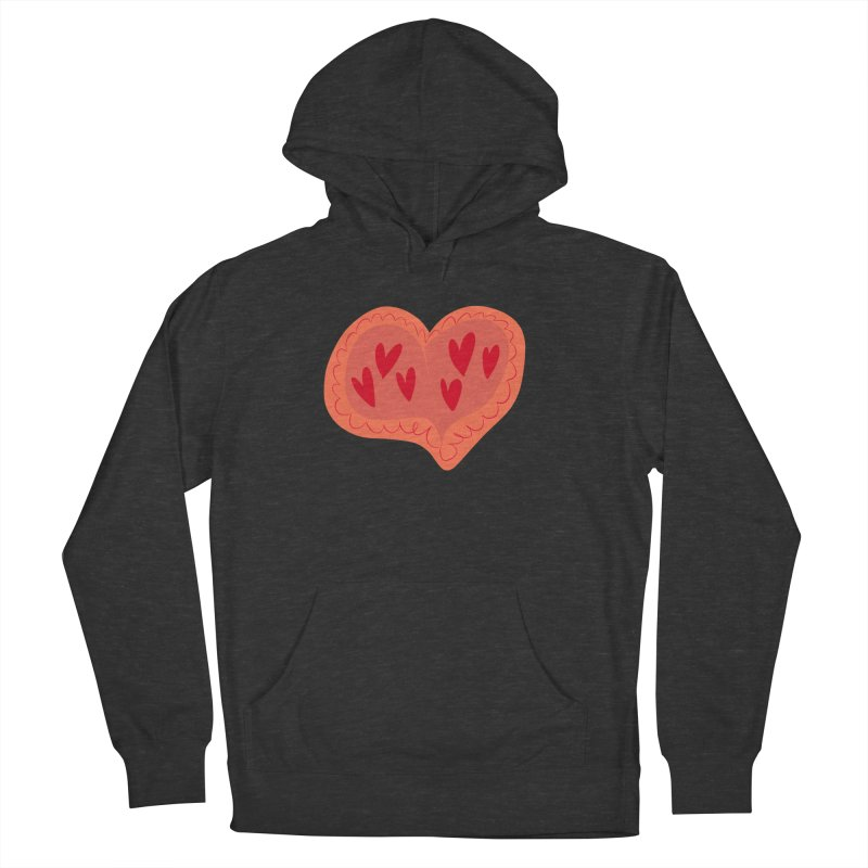 Heart of Hearts Men's French Terry Pullover Hoody by Michael Pfleghaar