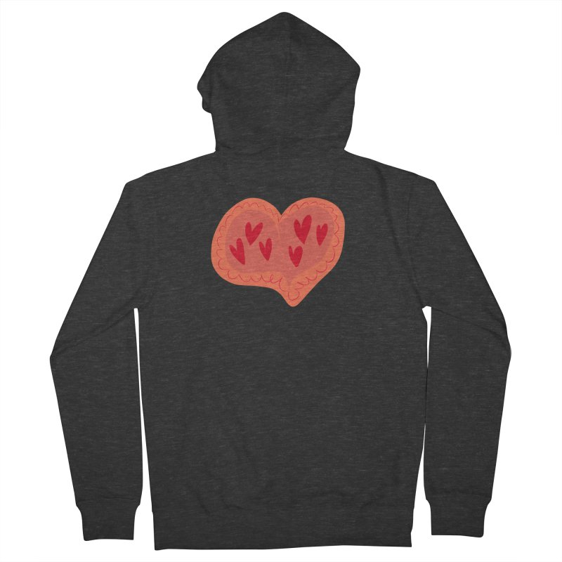 Heart of Hearts Women's French Terry Zip-Up Hoody by Michael Pfleghaar
