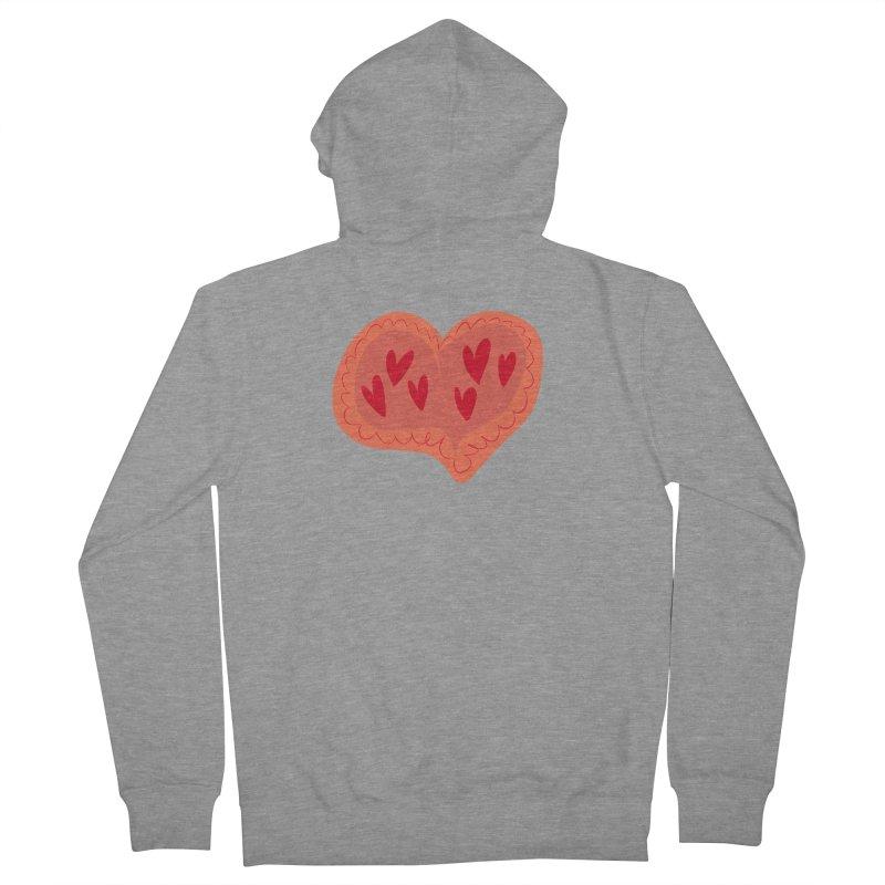 Heart of Hearts Women's French Terry Zip-Up Hoody by Michael Pfleghaar