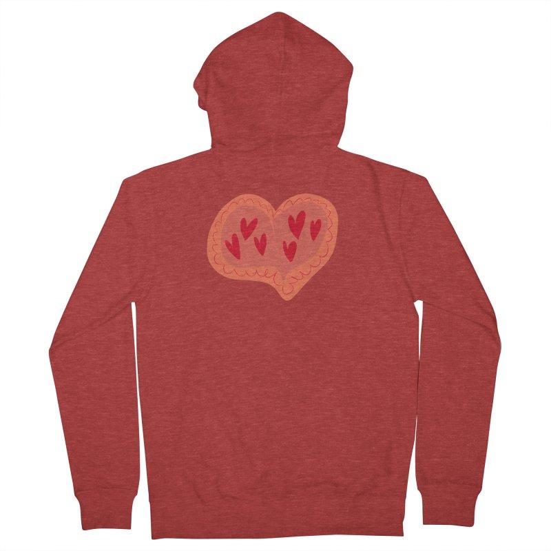 Heart of Hearts Men's Zip-Up Hoody by Michael Pfleghaar