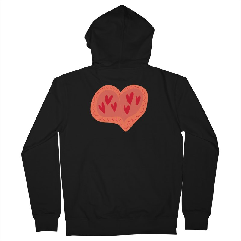 Heart of Hearts Men's French Terry Zip-Up Hoody by Michael Pfleghaar