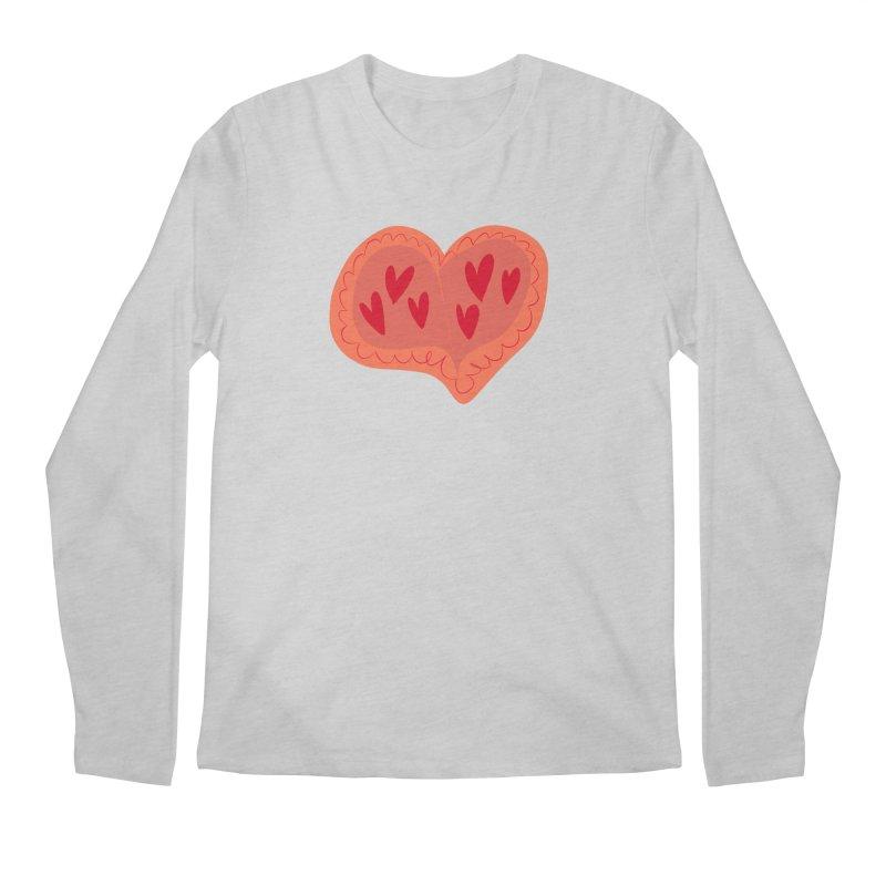 Heart of Hearts Men's Regular Longsleeve T-Shirt by Michael Pfleghaar