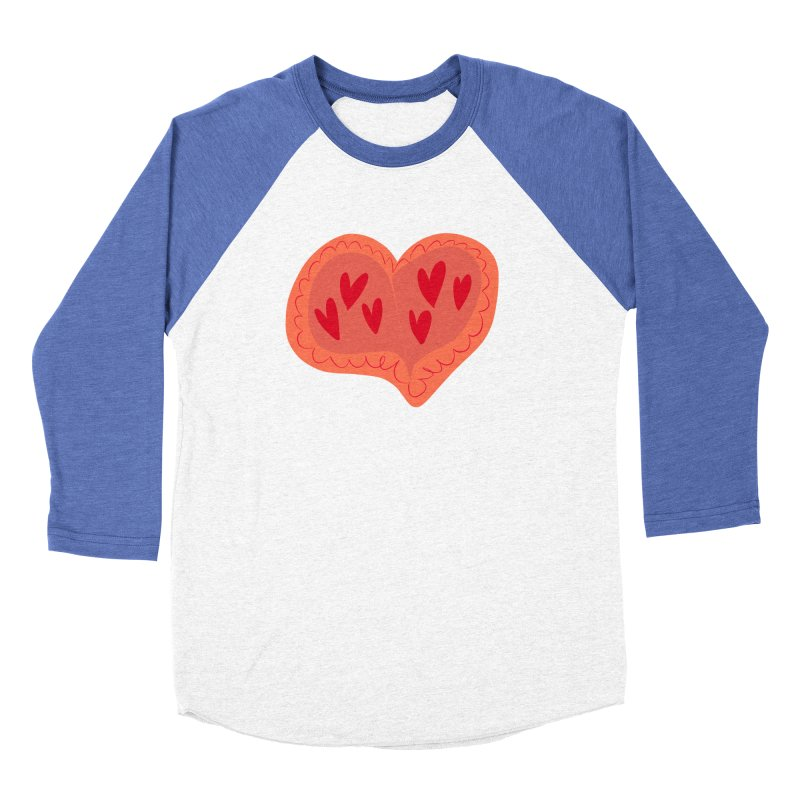 Heart of Hearts Men's Baseball Triblend Longsleeve T-Shirt by Michael Pfleghaar