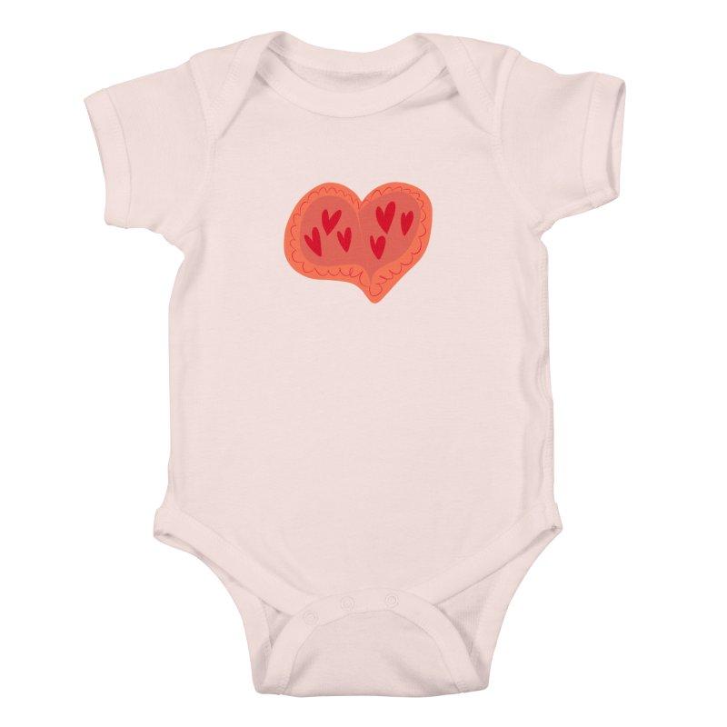 Heart of Hearts Kids Baby Bodysuit by Michael Pfleghaar