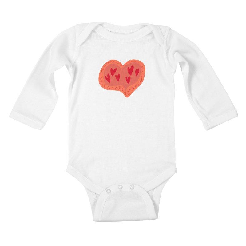 Heart of Hearts Kids Baby Longsleeve Bodysuit by Michael Pfleghaar