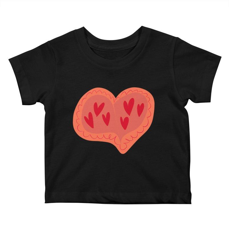 Heart of Hearts Kids Baby T-Shirt by Michael Pfleghaar