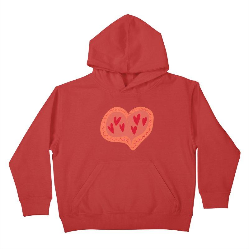 Heart of Hearts Kids Pullover Hoody by Michael Pfleghaar