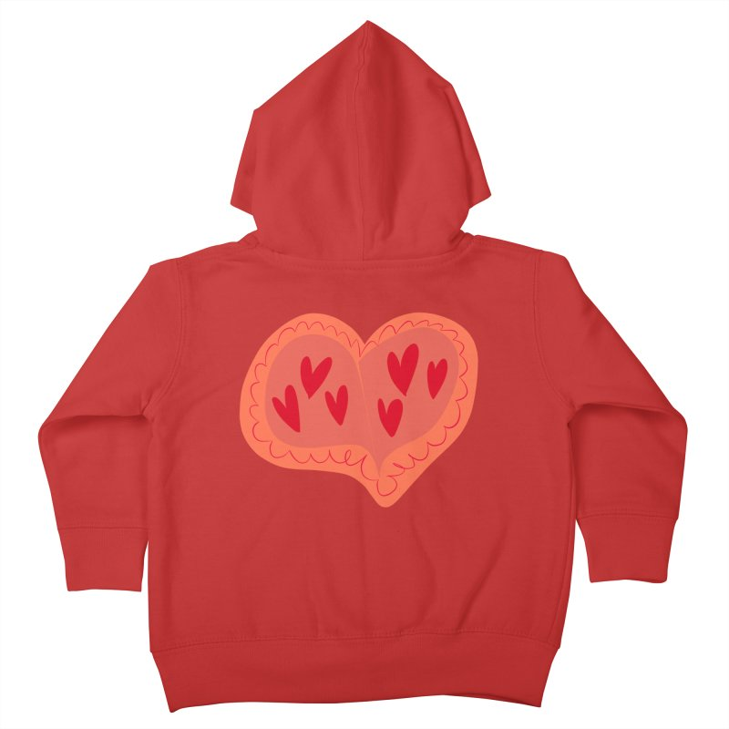 Heart of Hearts Kids Toddler Zip-Up Hoody by Michael Pfleghaar