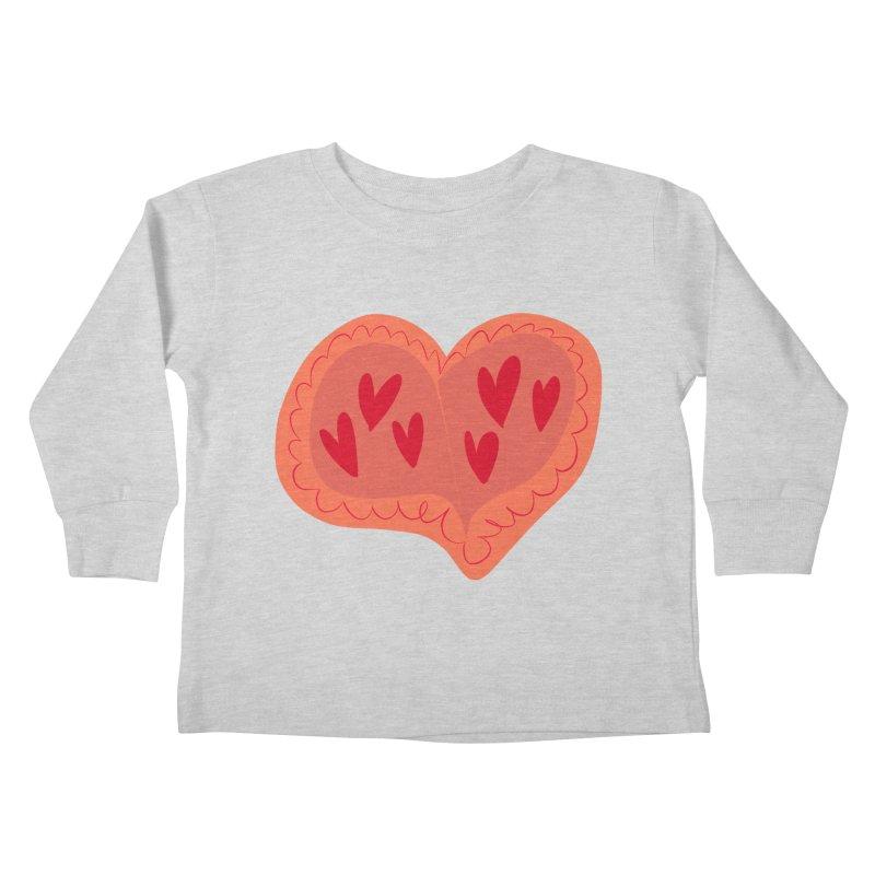 Heart of Hearts Kids Toddler Longsleeve T-Shirt by Michael Pfleghaar