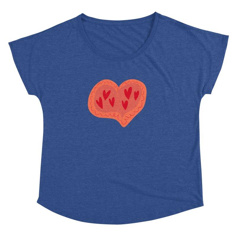 Heart of Hearts Women's Dolman Scoop Neck by Michael Pfleghaar