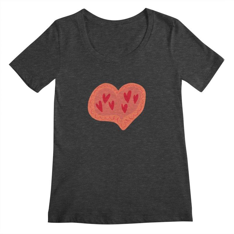 Heart of Hearts Women's Scoopneck by Michael Pfleghaar