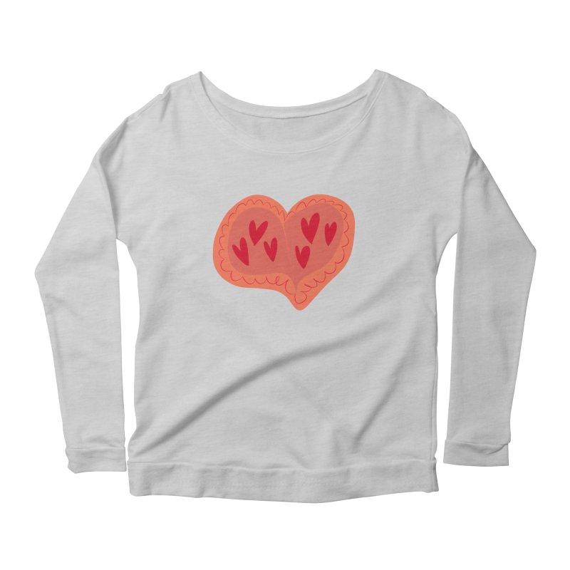 Heart of Hearts Women's Longsleeve Scoopneck  by Michael Pfleghaar