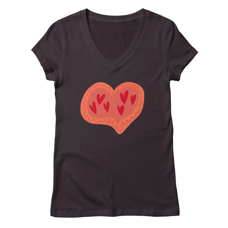 Heart of Hearts Women's V-Neck by Michael Pfleghaar