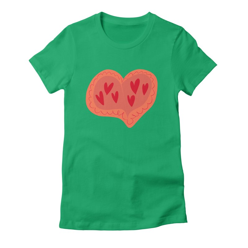 Heart of Hearts Women's Fitted T-Shirt by Michael Pfleghaar