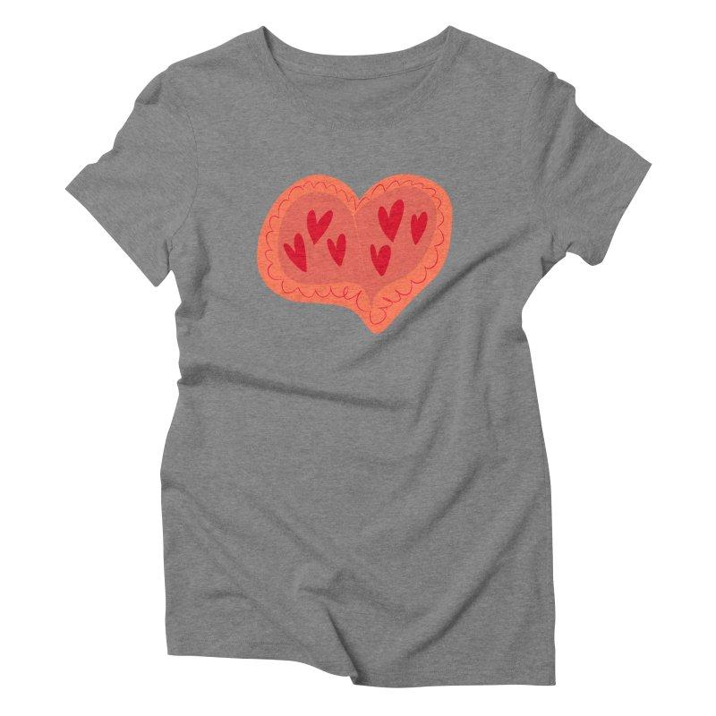 Heart of Hearts Women's Triblend T-Shirt by Michael Pfleghaar