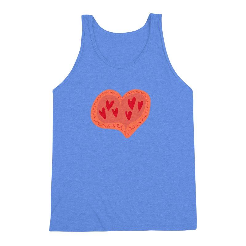 Heart of Hearts Men's Triblend Tank by Michael Pfleghaar