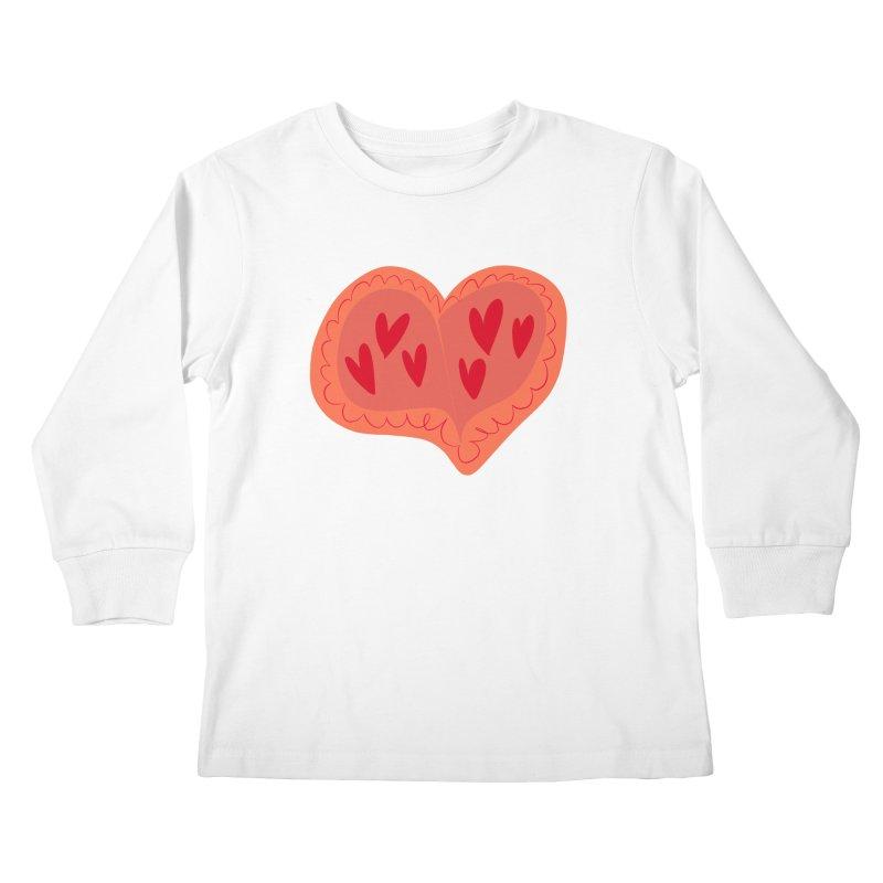Heart of Hearts Kids Longsleeve T-Shirt by Michael Pfleghaar