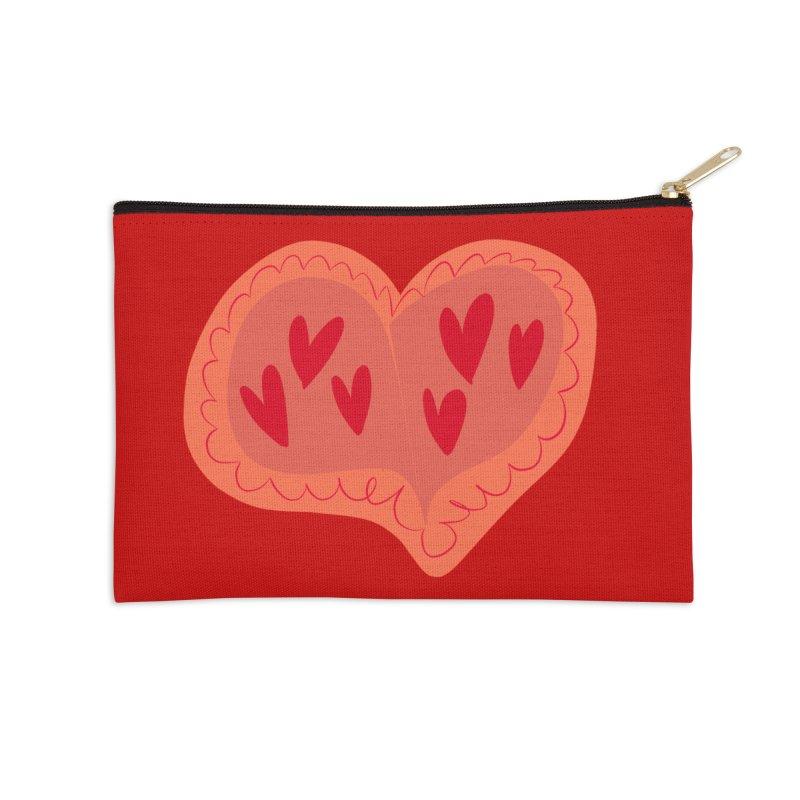 Heart of Hearts Accessories Zip Pouch by Michael Pfleghaar
