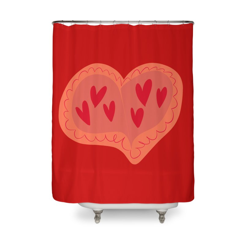 Heart of Hearts Home Shower Curtain by Michael Pfleghaar