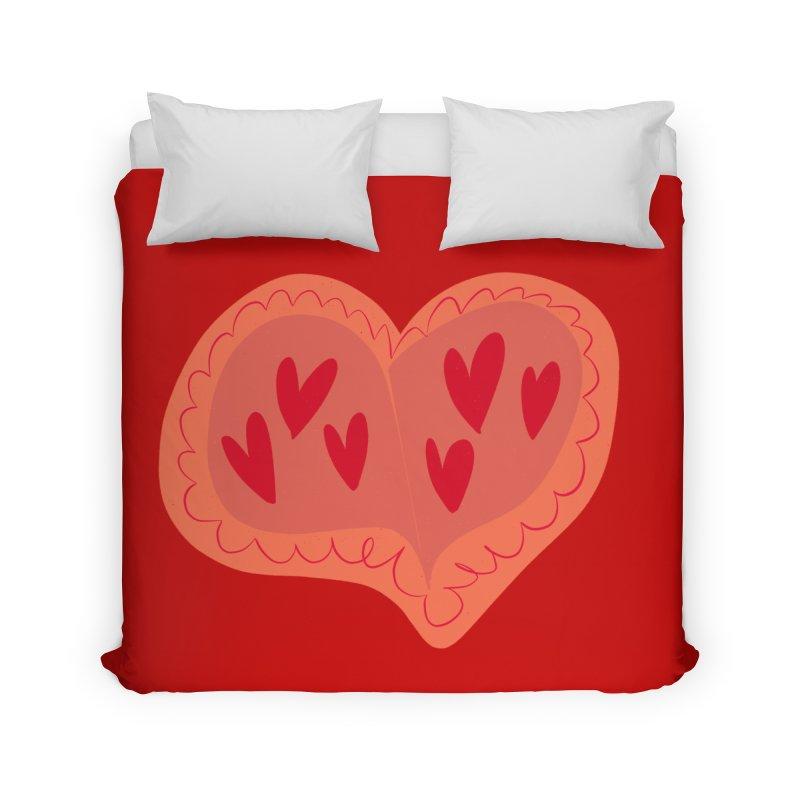 Heart of Hearts Home Duvet by Michael Pfleghaar