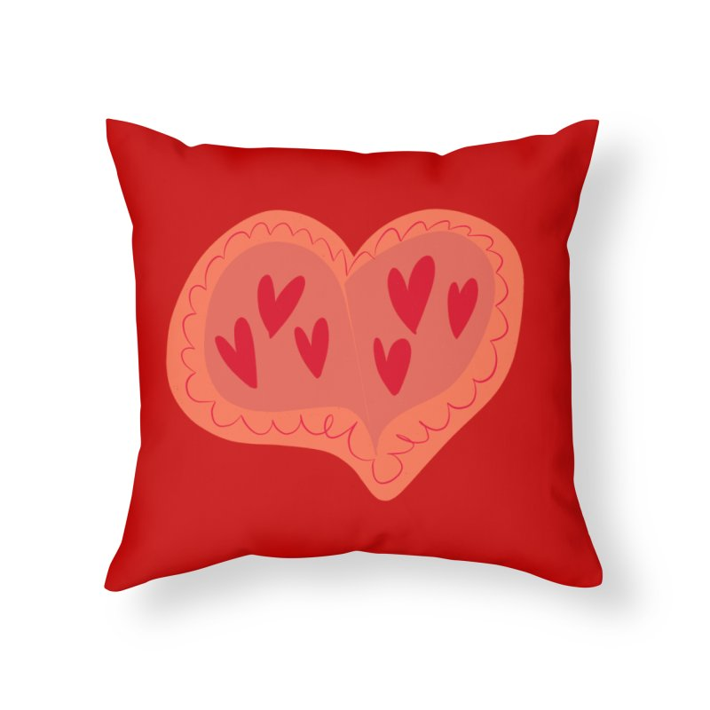 Heart of Hearts Home Throw Pillow by Michael Pfleghaar