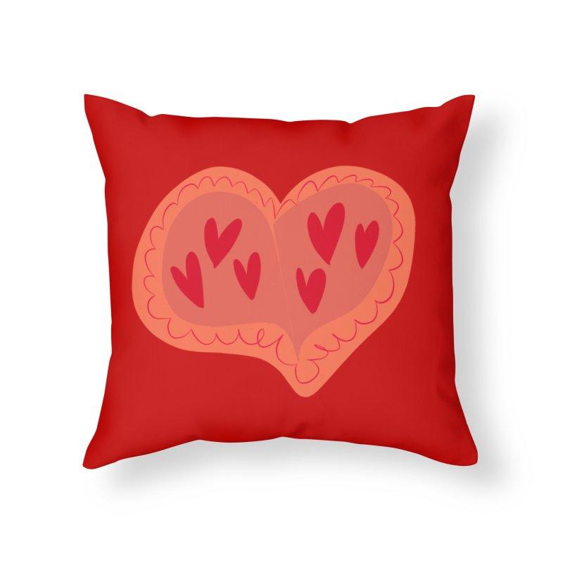 Heart of Hearts Home Throw Pillow by Michael Pfleghaar