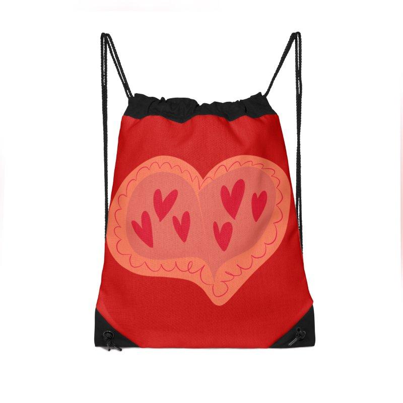 Heart of Hearts Accessories Drawstring Bag Bag by Michael Pfleghaar