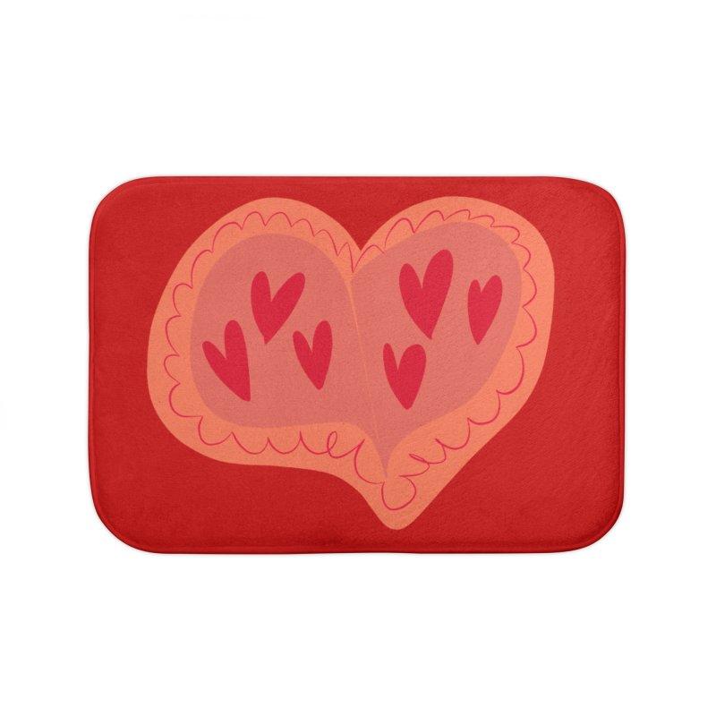 Heart of Hearts Home Bath Mat by Michael Pfleghaar