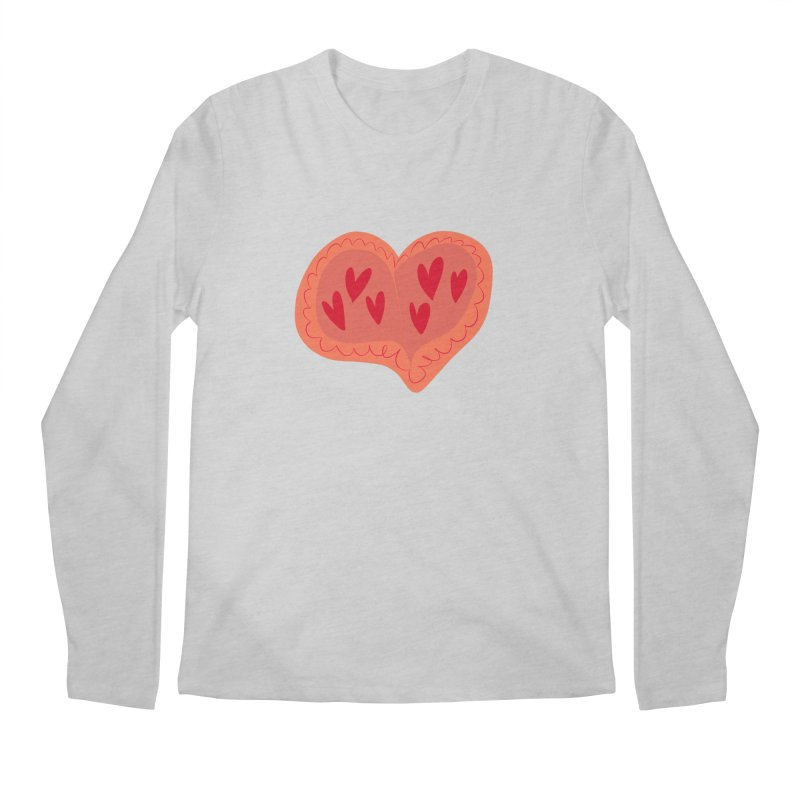 Heart of Hearts Men's Regular Longsleeve T-Shirt by Michael Pfleghaar