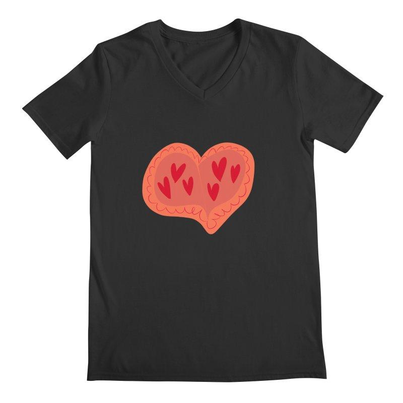Heart of Hearts Men's Regular V-Neck by Michael Pfleghaar