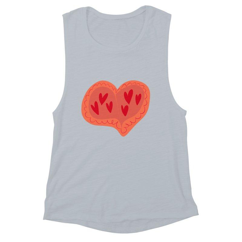 Heart of Hearts Women's Muscle Tank by Michael Pfleghaar