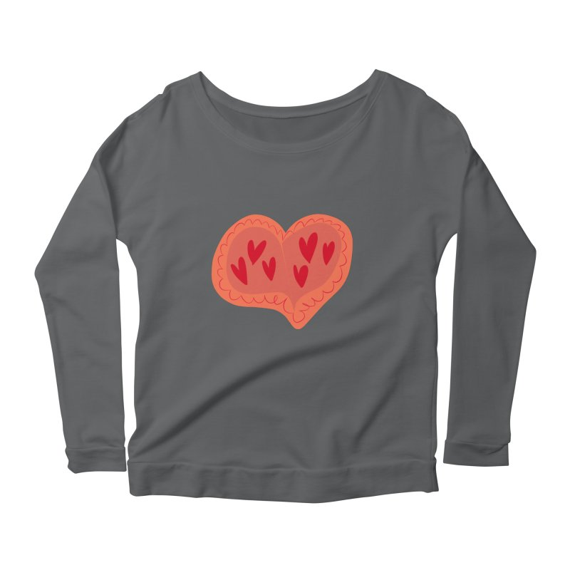 Heart of Hearts Women's Scoop Neck Longsleeve T-Shirt by Michael Pfleghaar