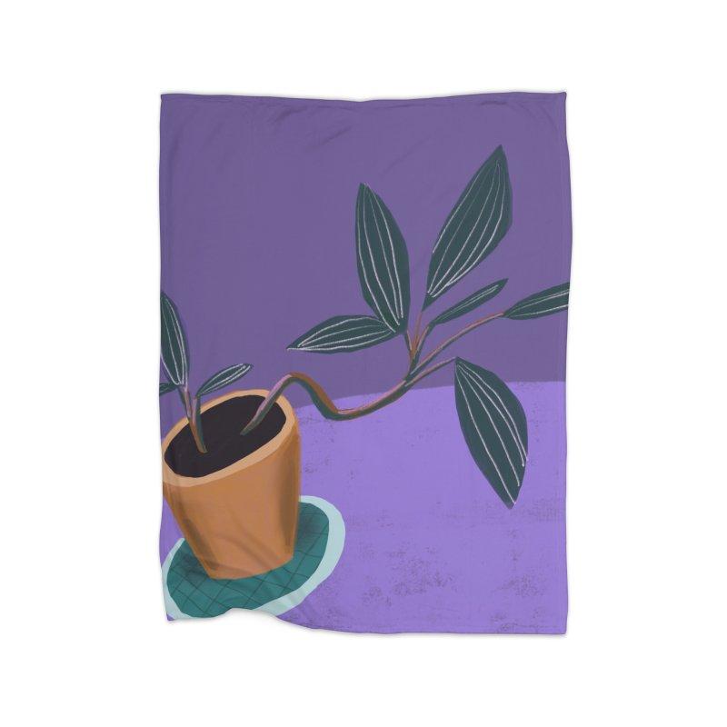 Ultra Violet Jewel Orchid Home Blanket by Michael Pfleghaar