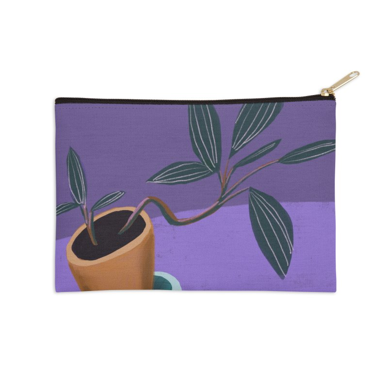 Ultra Violet Jewel Orchid Accessories Zip Pouch by Michael Pfleghaar