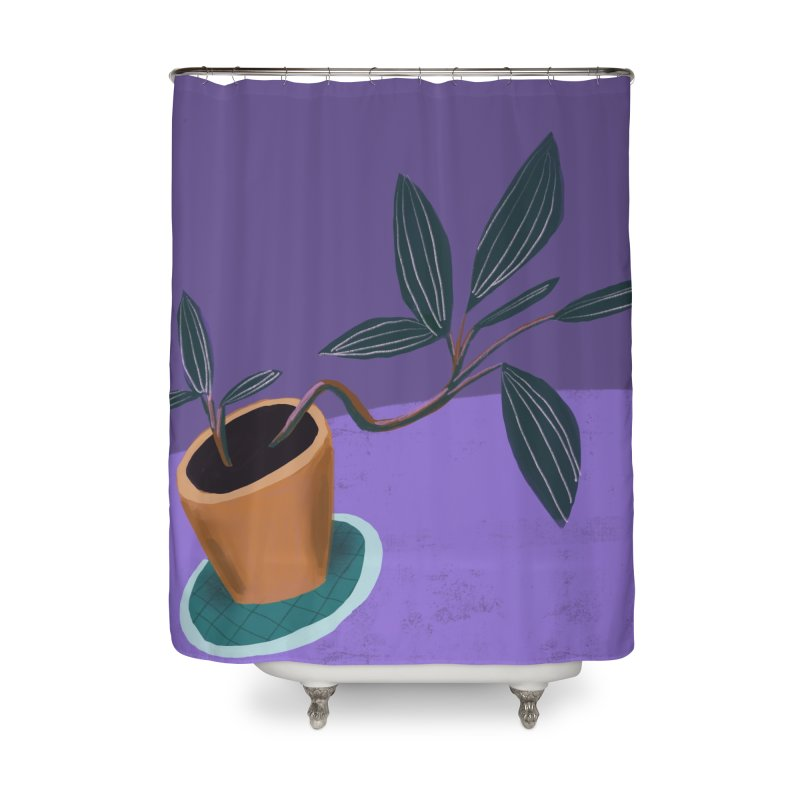 Ultra Violet Jewel Orchid Home Shower Curtain by Michael Pfleghaar