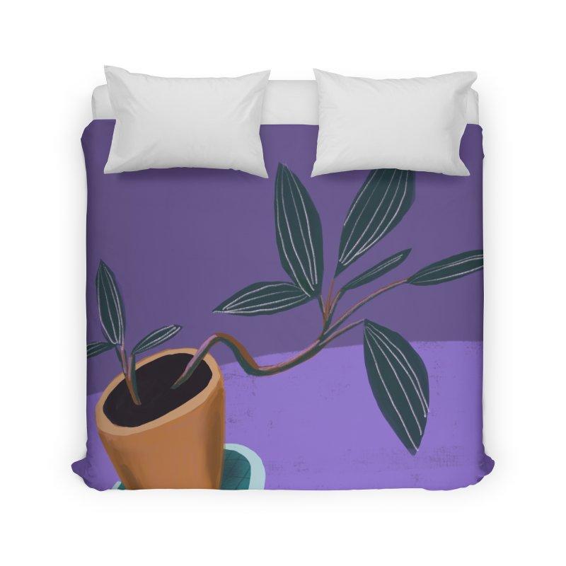 Ultra Violet Jewel Orchid Home Duvet by Michael Pfleghaar