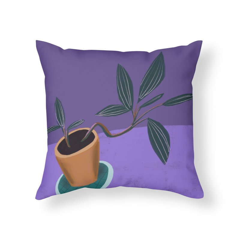 Ultra Violet Jewel Orchid Home Throw Pillow by Michael Pfleghaar
