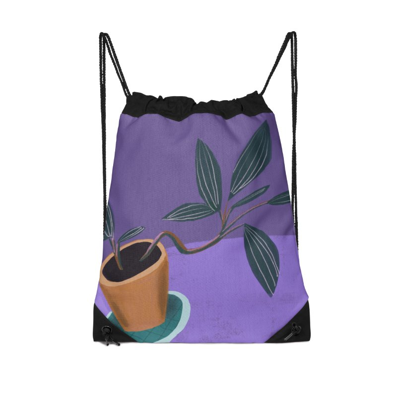 Ultra Violet Jewel Orchid Accessories Drawstring Bag Bag by Michael Pfleghaar