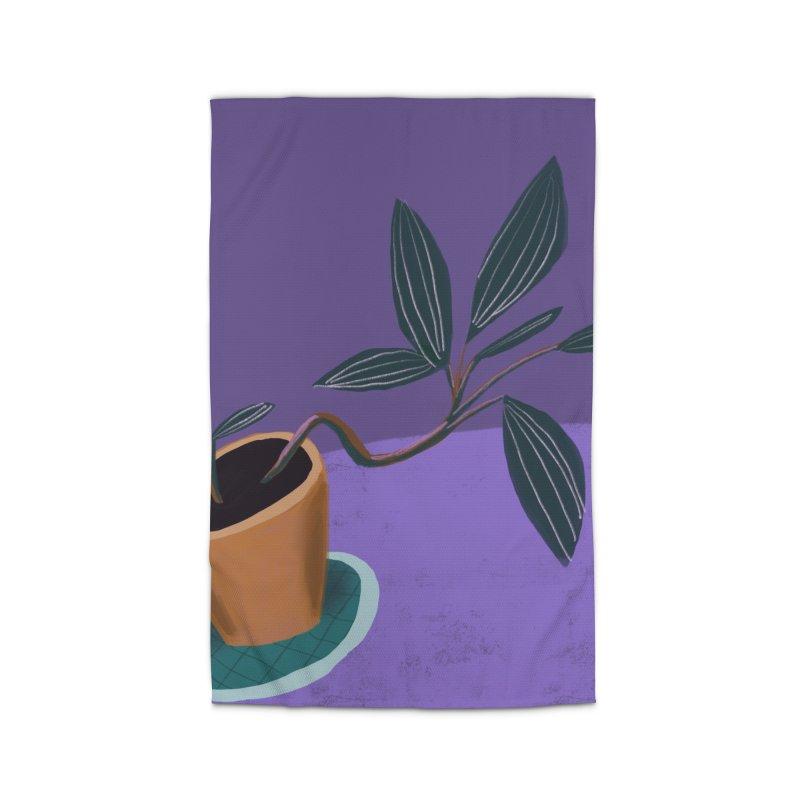Ultra Violet Jewel Orchid Home Rug by Michael Pfleghaar