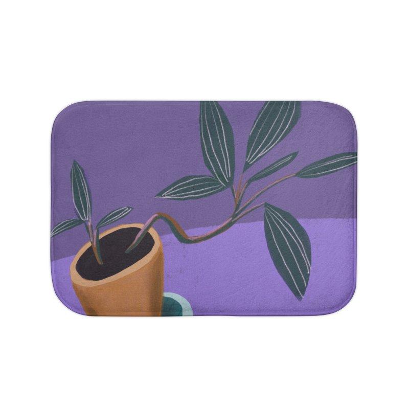 Ultra Violet Jewel Orchid Home Bath Mat by Michael Pfleghaar