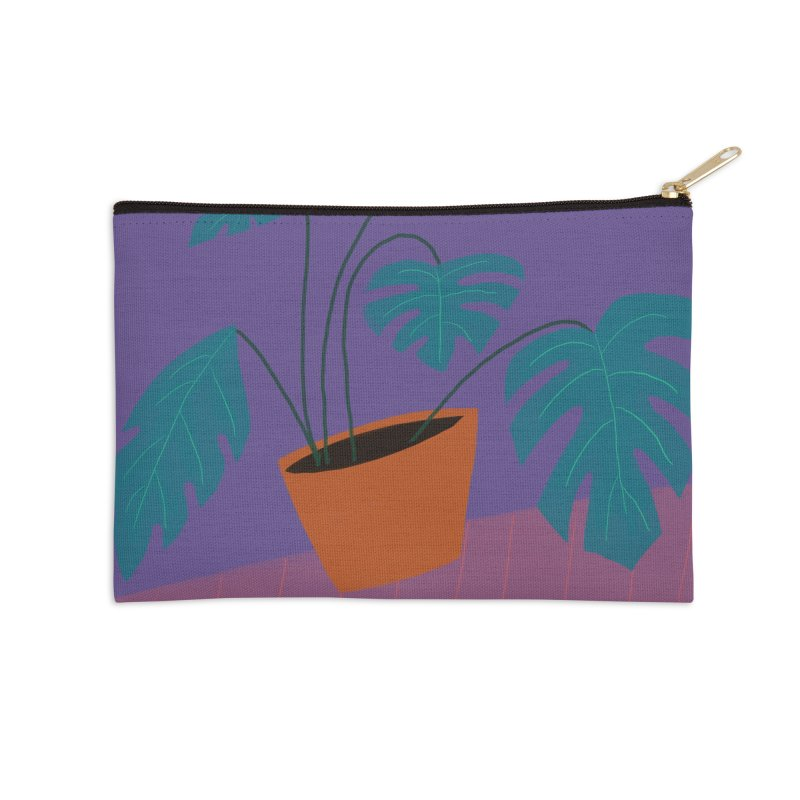 Ultra Violet Philodendron Accessories Zip Pouch by Michael Pfleghaar