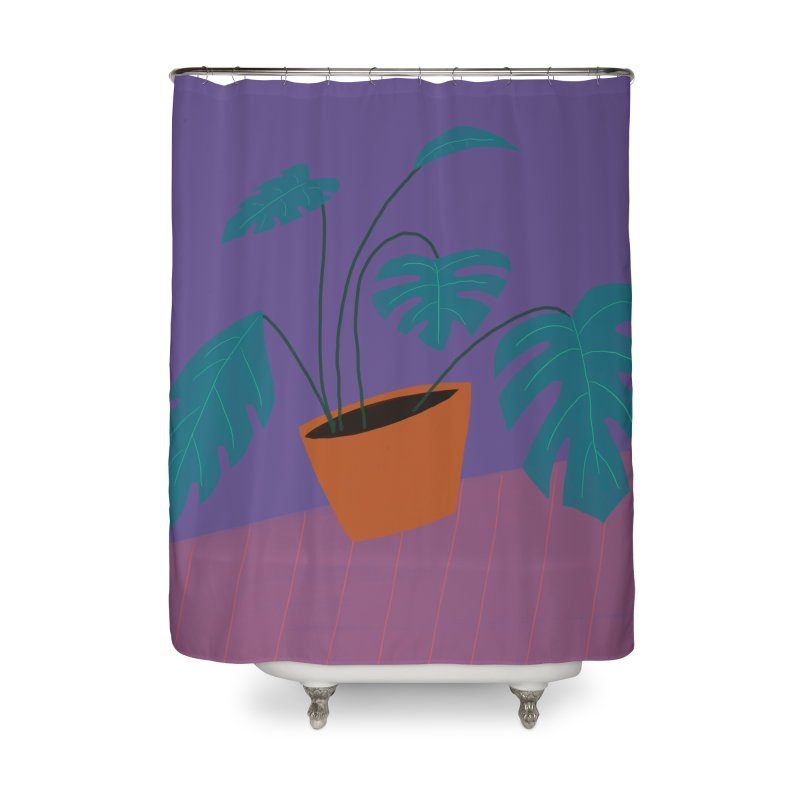 Ultra Violet Philodendron Home Shower Curtain by Michael Pfleghaar